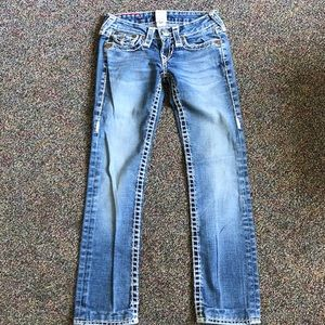 True religion billy supert straight jeans size 24.